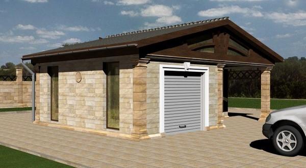 постройка гаража на даче фото