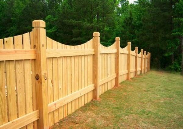забор из деревянного штакетника своими руками фото