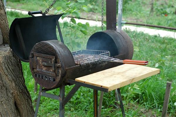 садовая печь с мангалом фото