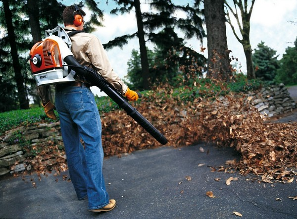садовые пылесосы для уборки листьев фото
