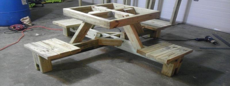 Столик для пикника: идеи для вашей дачи и их самостоятельное воплощение в жизнь