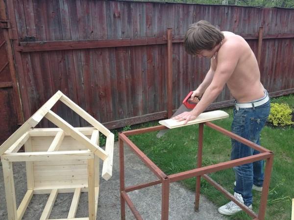 изготовление будки для собаки фото