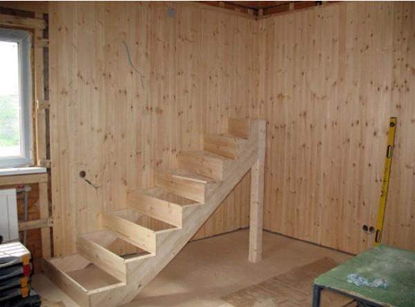 лестница для дачи своими руками фото