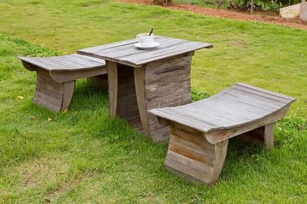 садовая деревянная мебель для дачи фото