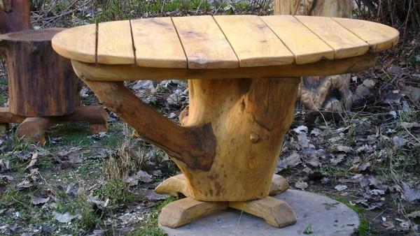 садовая мебель для дачи из дерева фото