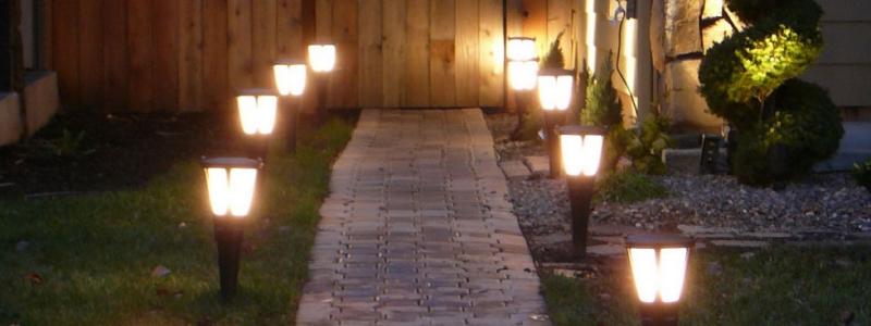 Уличные светильники для дачи фото