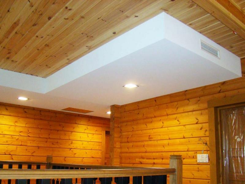 Как монтировать потолок из гипсокартона в деревянном доме