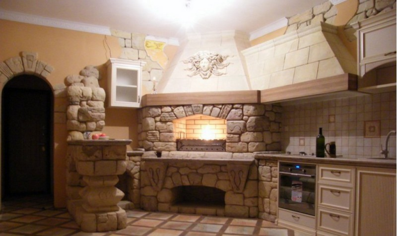 печь для отопления дачи на дровах фото