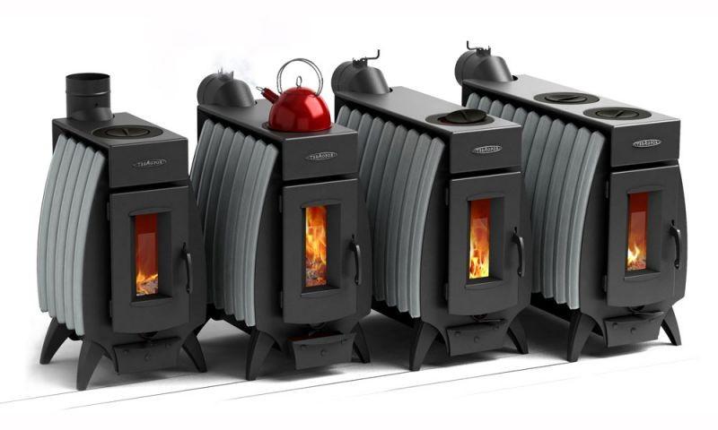 железная печь для дачи длительного горения фото