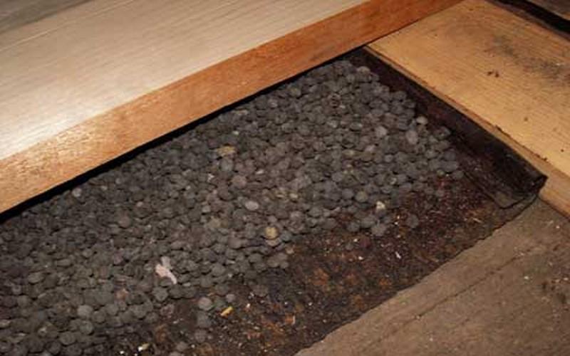 как утеплить потолок в бане керамзитом фото