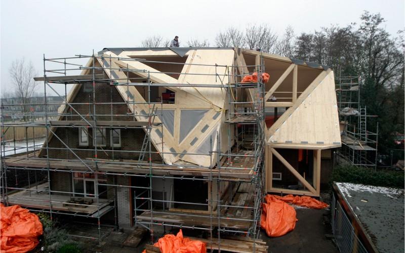 реконструкция крыши дачного дома фото