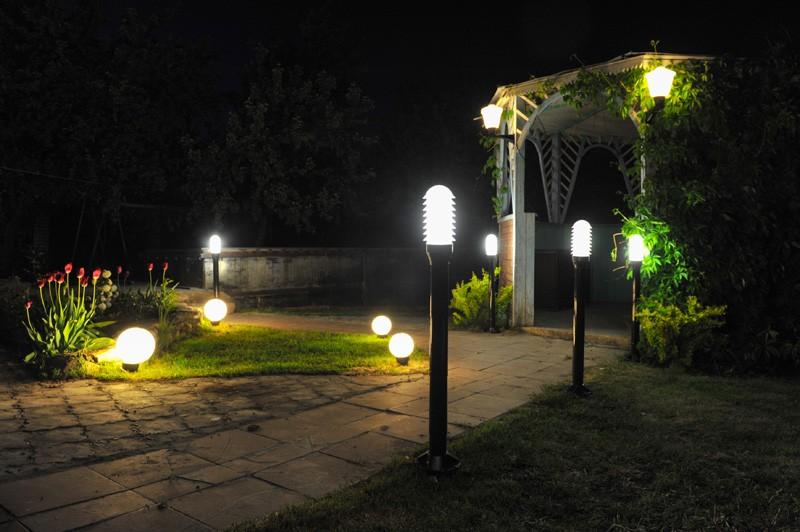 садовые фонари электрические фото