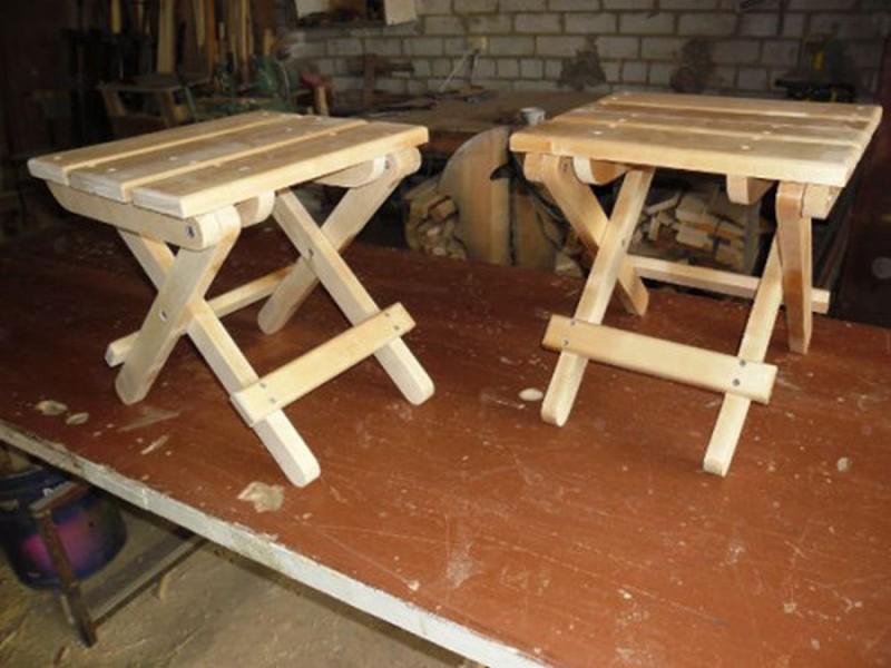 Табурет складной деревянный своими руками