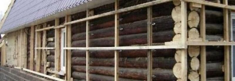 утепление стен дома из бруса фото