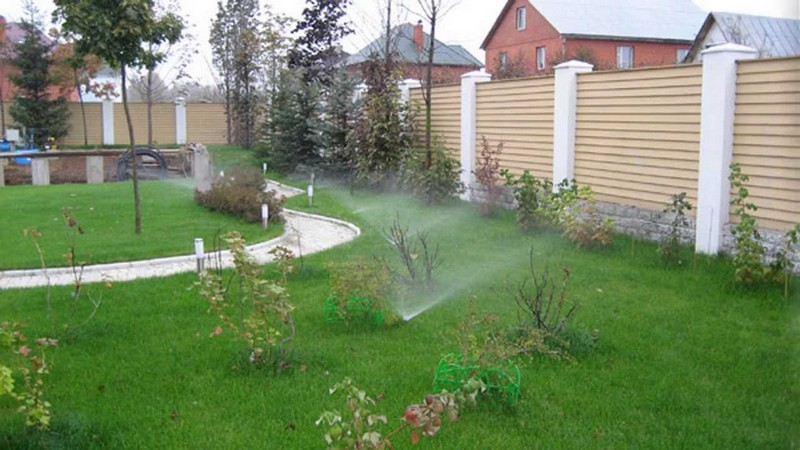 автоматический полив газона своими руками фото
