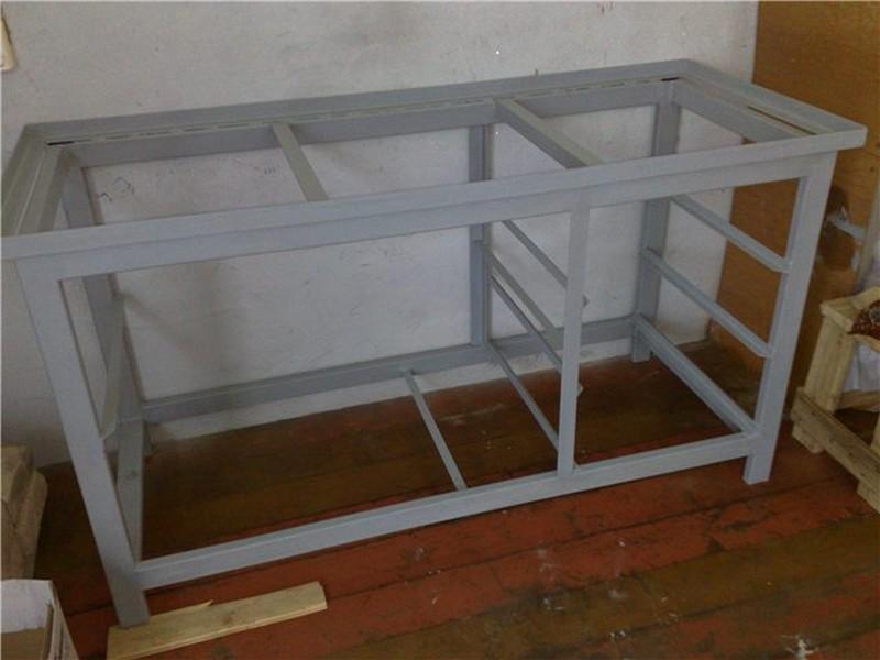 Металлический верстак в гараже своими руками фото чертежи