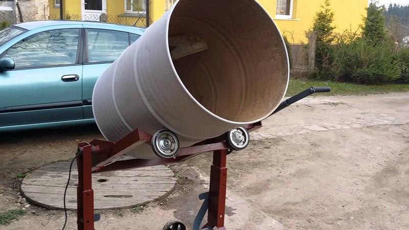 самодельная бетономешалка из бочки фото