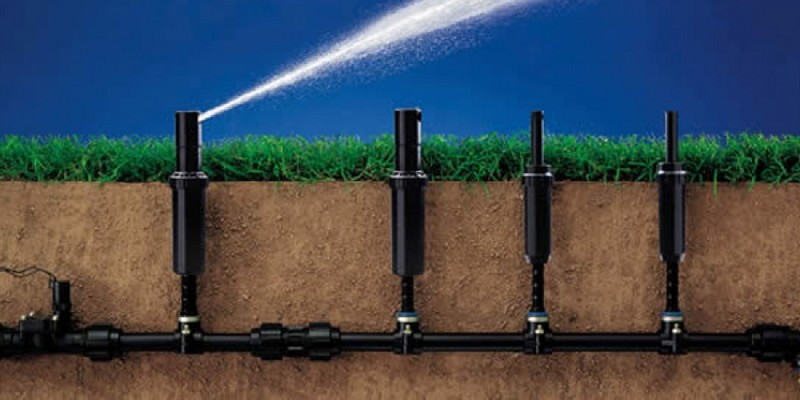 система полива газона фото