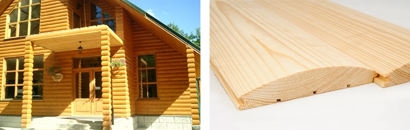 деревянный сайдинг под бревно фото