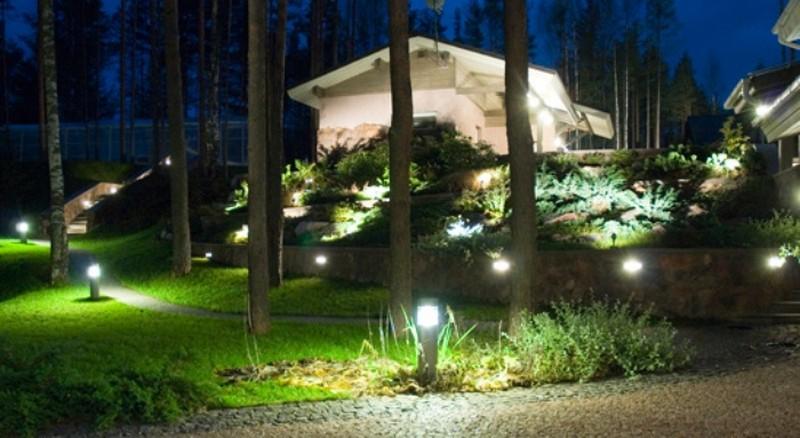 освещение садового участка своими руками фото