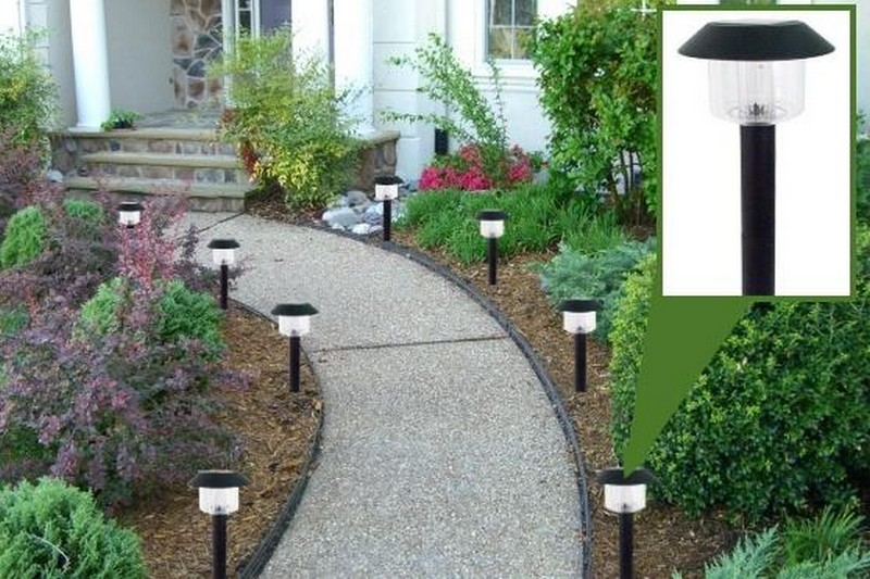 освещение садовых дорожек фото