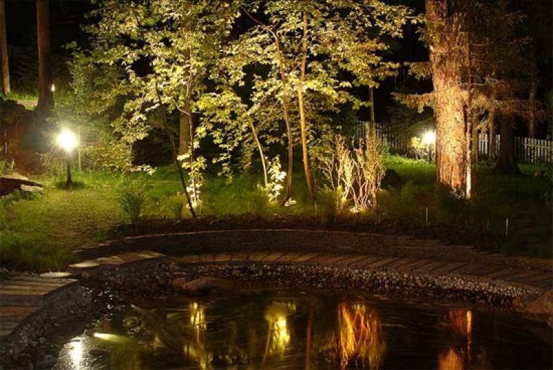 садовое освещение фото