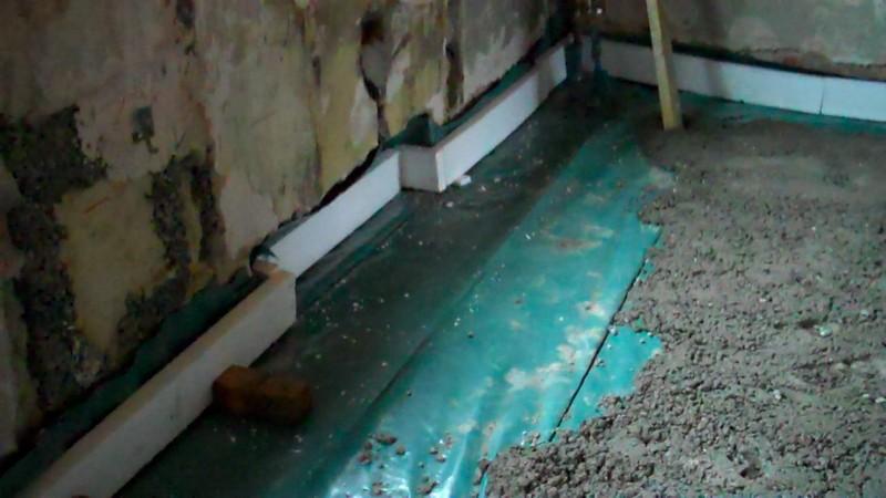 бетонные полы в бане своими руками фото