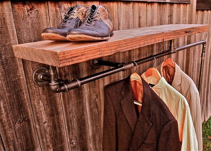 вешалка для одежды из дерева своими руками фото
