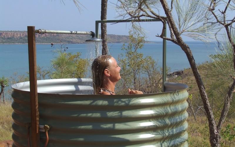 душ дачный садовый летний с подогревом фото