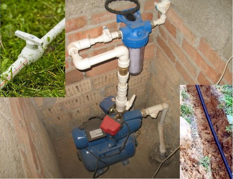 как провести пластиковый водопровод на даче фото