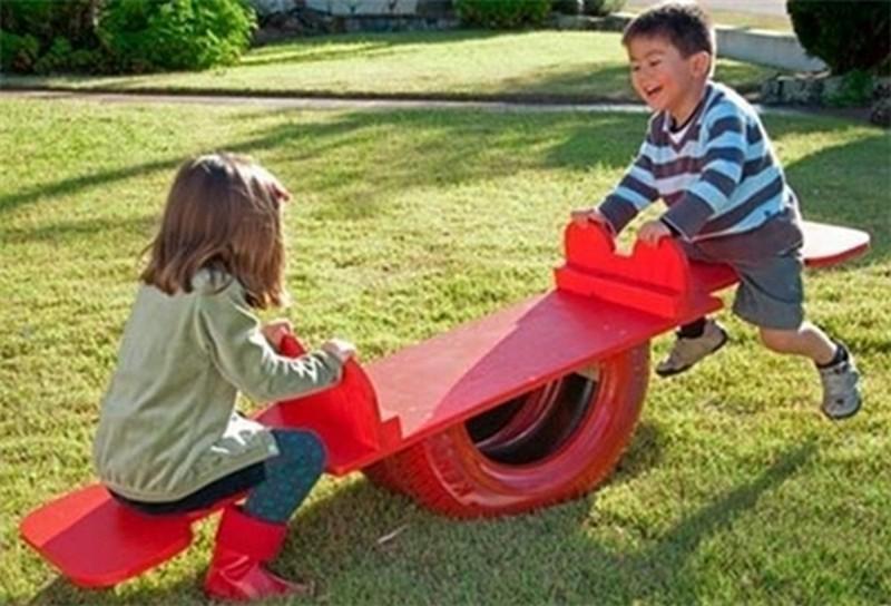 как самому сделать детскую площадку на даче фото