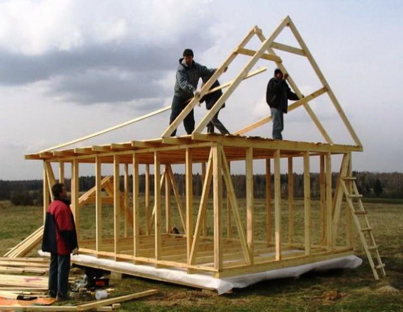 Строительство каркасного сарая своими руками видео