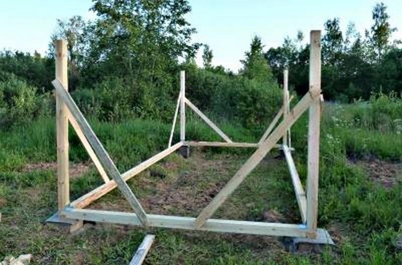 строительство каркасного сарая своими руками фото