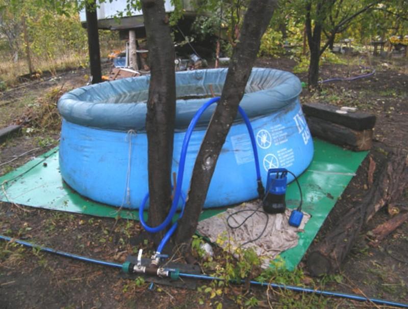 насос для откачки воды из бассейна фото