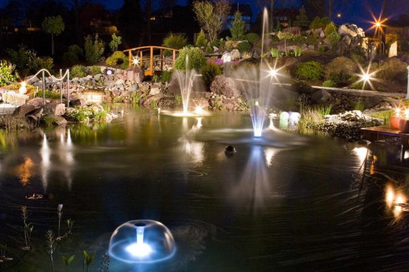 подсветка водоема фото