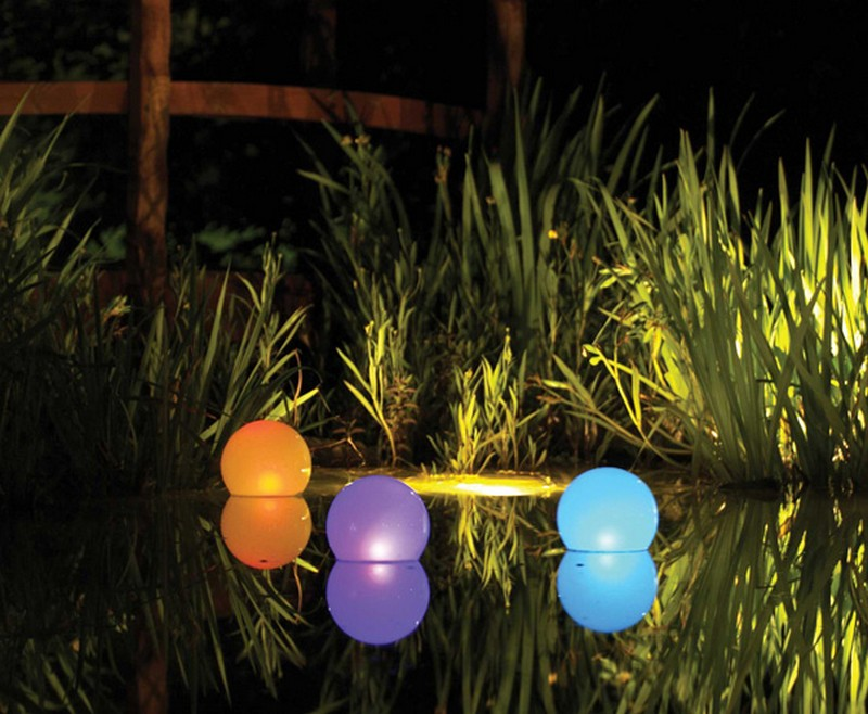 светильники для пруда фото