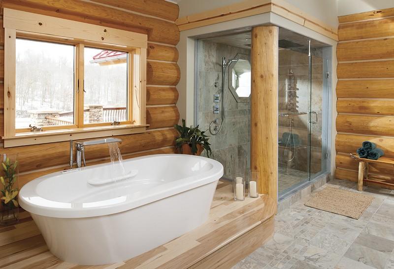 отделка пола в бане фото