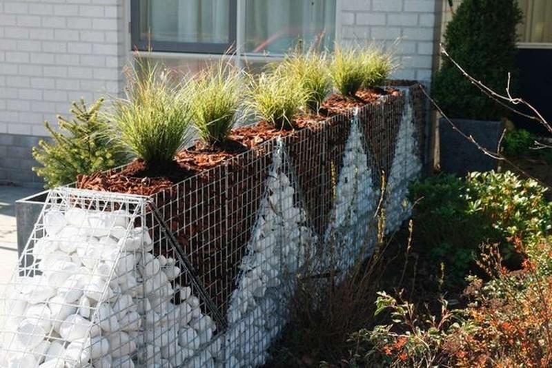 каменный забор габион фото