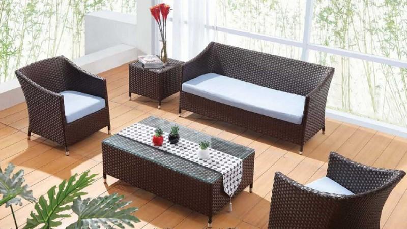 плетеная мебель из пластика фото