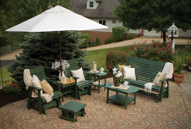 садовая пластиковая мебель для дачи фото