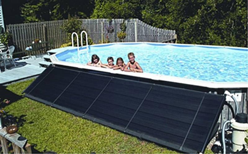 солнечный подогрев бассейна фото