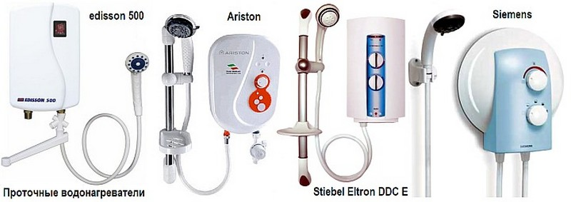 проточный водонагреватель электрический на душ для дачи фото