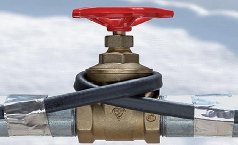 чтобы водопровод не замерз зимой фото