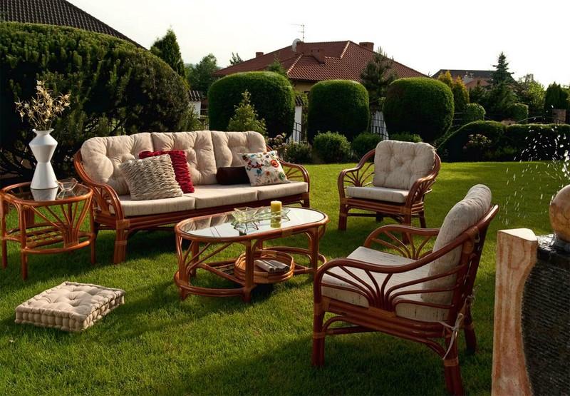 мебель для сада и дачи из ротанга фото