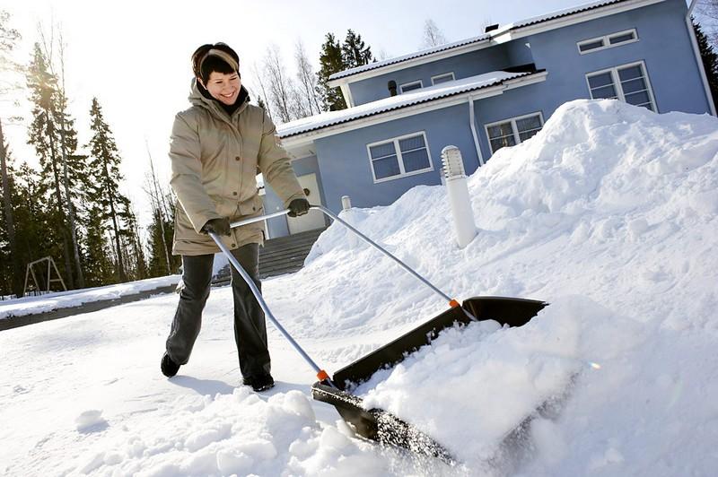 лопата скребок для уборки снега фото