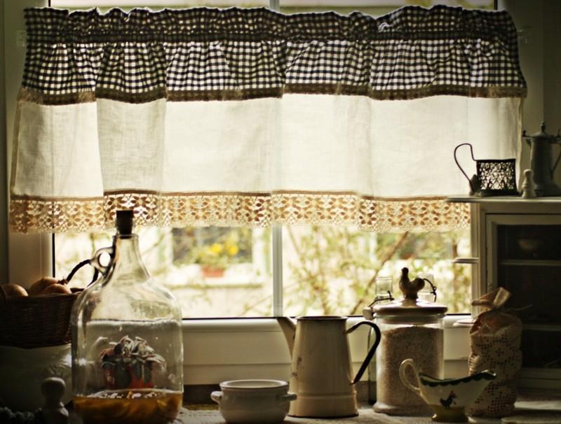шторы для дачи в деревенском стиле фото
