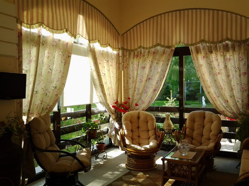 шторы для веранды на даче фото