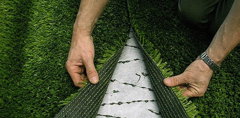 укладка искусственной травы фото